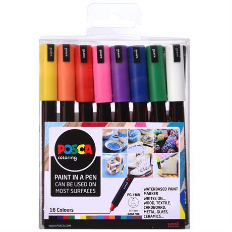 POSCA PC-1MR Set Of 16 Pens Image 1