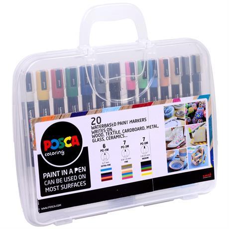 POSCA Case With 20 Paint Pens Image 1