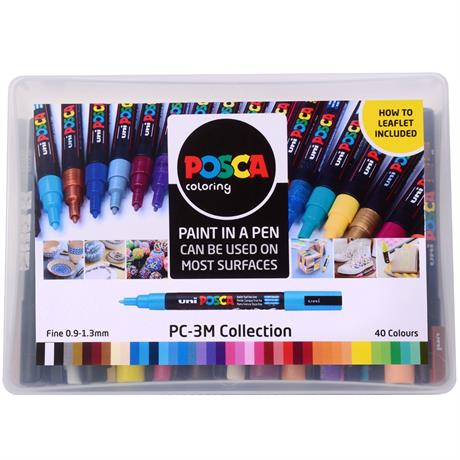 POSCA PC-3M Collection Pack Of 40 Pens Image 1