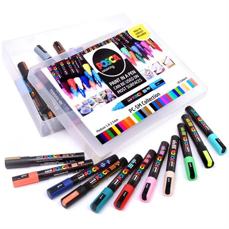 POSCA PC-5M Collection Pack Of 39 Pens Image 1