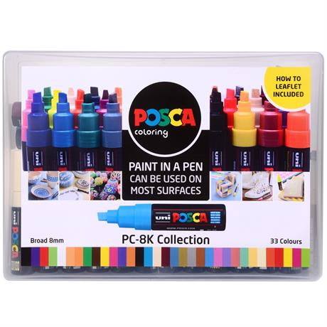 POSCA PC-8K Collection Pack Of 33 Pens Image 1