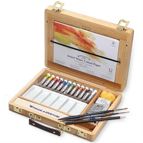 Winsor & Newton Artists' Watercolour Tube Bamboo Box Image 1