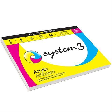 Daler Rowney System 3 Acrylic Artboard Pads Image 1