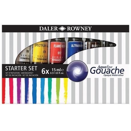 Daler Rowney Aquafine Gouache Set 6 x 15ml Image 1