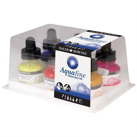 Daler Rowney Aquafine Watercolour Ink Set Image 1