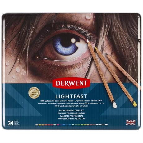 Derwent Lightfast Pencils Tin of 24 Image 1