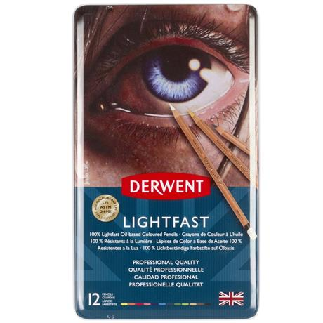Derwent Lightfast Pencils Tin of 12 Image 1
