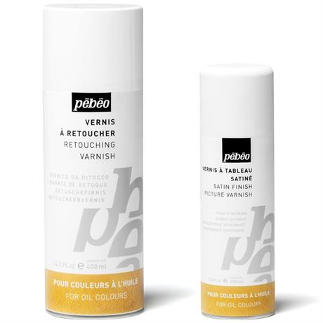 Pebeo Solvent Based Spray Varnishes For Oil Paints Image 1