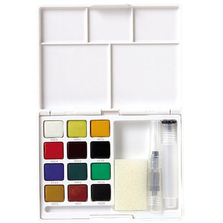 Koi Watercolour Sketch Box Set Of 12 Half Pans Image 1