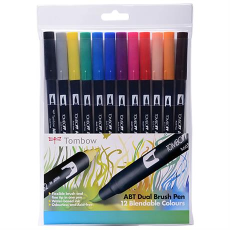 Tombow Dual Brush Pen Set of 12 - Primary Image 1