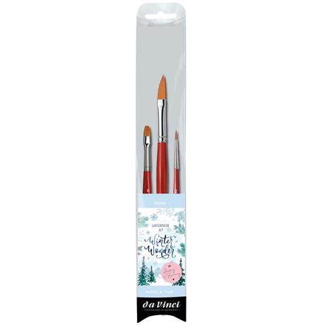 da Vinci Winter Wonderland Watercolour Brush Set Image 1