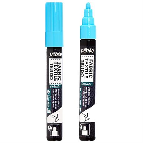 Pebeo 7A Fabric Markers Opaque With Round 4mm Tip Image 1