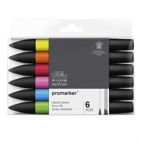 Winsor & Newton ProMarker 6 Vibrant Tones Image 1