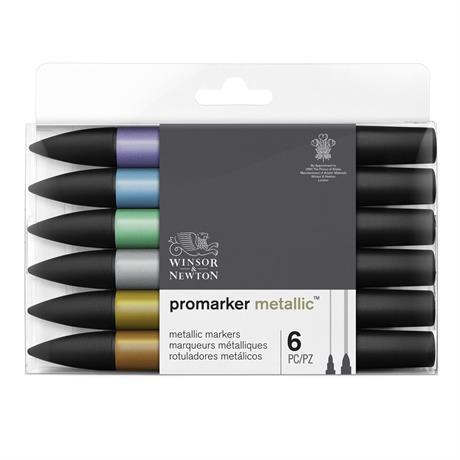 Winsor & Newton ProMarker Metallic Set of 6 Image 1