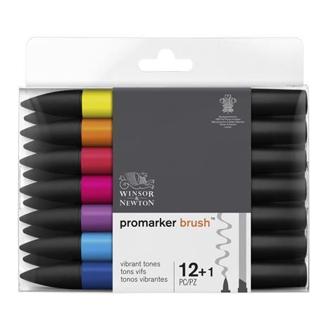 Winsor & Newton ProMarker Brush 12 Vibrant Set Image 1