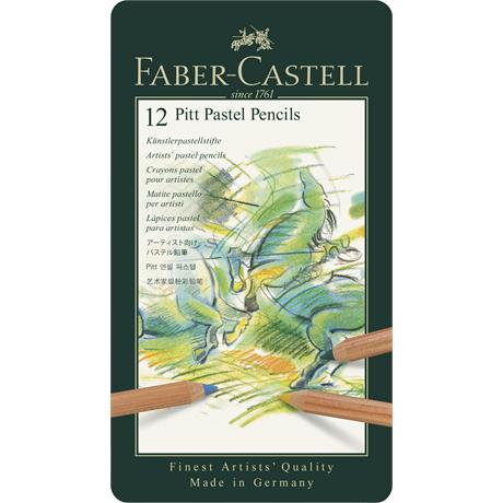 Faber Castell Pitt Pastel Pencil Tin of 12 Image 1