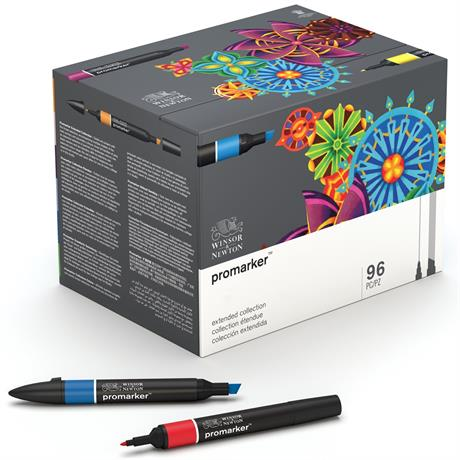 Winsor & Newton ProMarker Extended Collection Set Of 96 Image 1