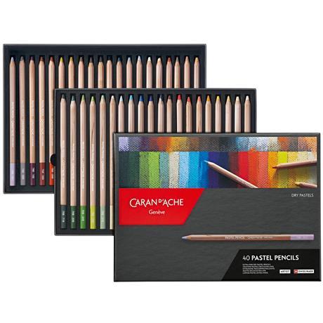 Caran d Ache Pastel Pencils 40 Assorted Set Image 1