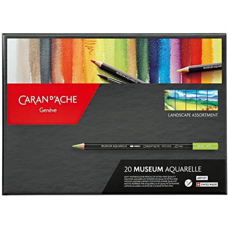 Caran d'Ache Museum Aquarelle Pencils - 20 Landscape Assortment Set Image 1