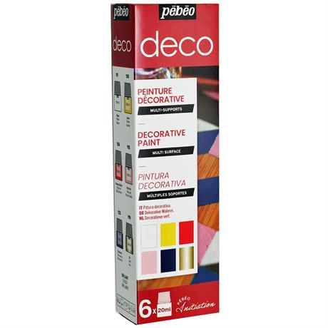 Pebeo Deco Glossy Initiation Set 6 x 20ml Image 1
