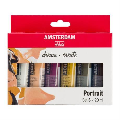 Amsterdam Acrylic Portrait Colours 6x20ml Image 1