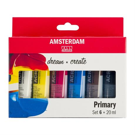 Amsterdam Acrylic Primary 6x20ml Image 1