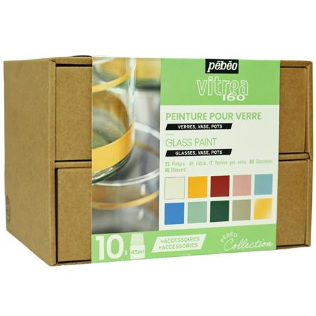 Pebeo Vitrea 160 Collection Set 10 x 45ml No.2 Colours Image 1