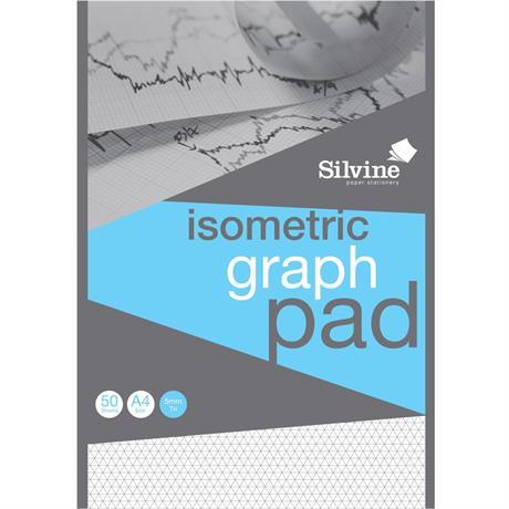 Silvine Professional Graph Pad A4 5mm Isometric Image 1