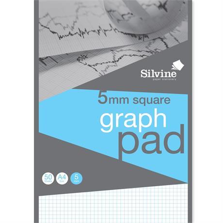 Silvine Professional Graph Pad A4 5mm Square Grid Image 1