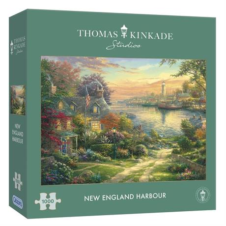New England Harbour Jigsaw 1000 pieces  Image 1