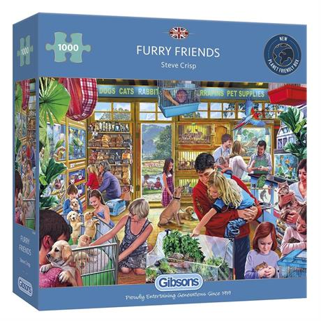 Furry Friends Jigsaw 1000pc Image 1