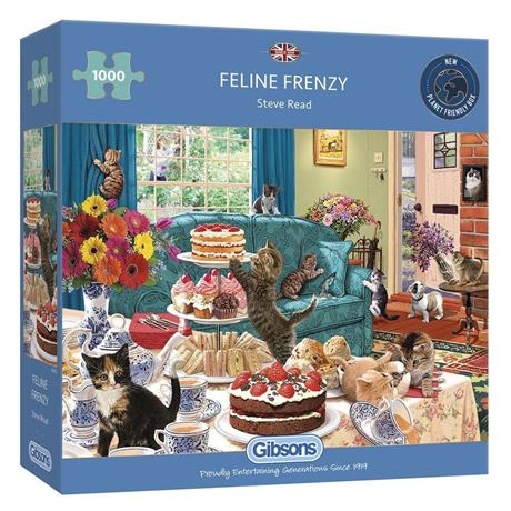 Feline Frenzy Jigsaw 1000pc Image 1