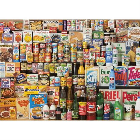 1980s Shopping Basket Jigsaw 1000 pieces Image 1