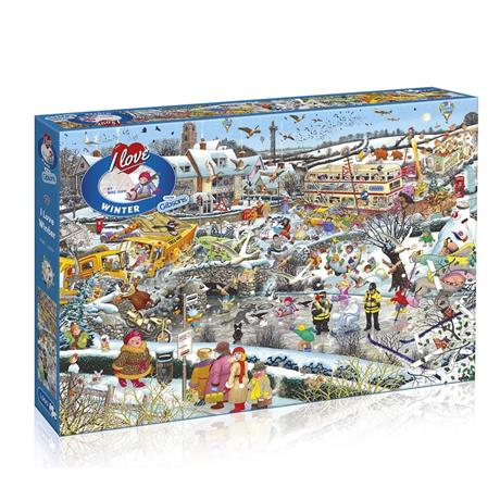 I Love Winter Jigsaw 1000pc Image 1