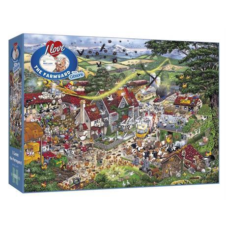 I Love the Farmyard Jigsaw 1000pc Image 1