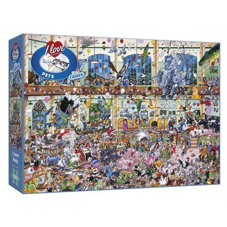 I Love Pets Jigsaw 1000pc Image 1