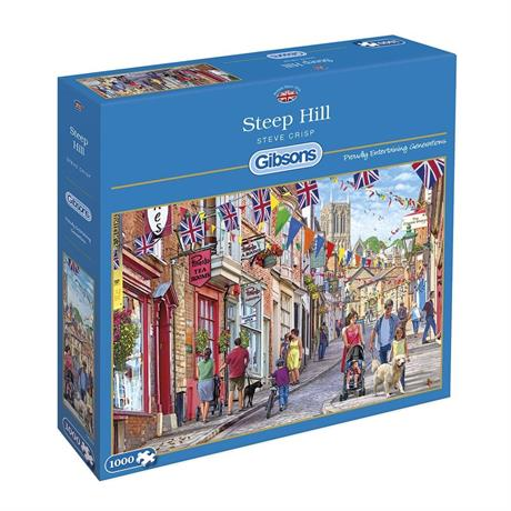 Steep Hill Jigsaw 1000pc Image 1