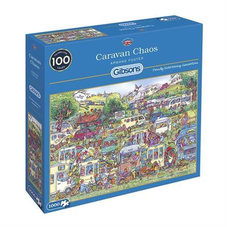 Caravan Chaos Jigsaw 1000pc Image 1
