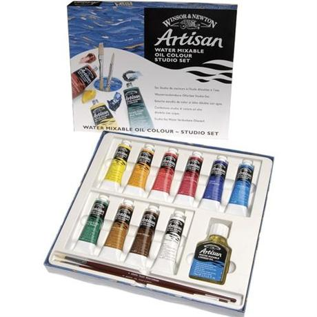Artisan Water Mixable Oil Paint Studio Set 10 x 37ml Image 1