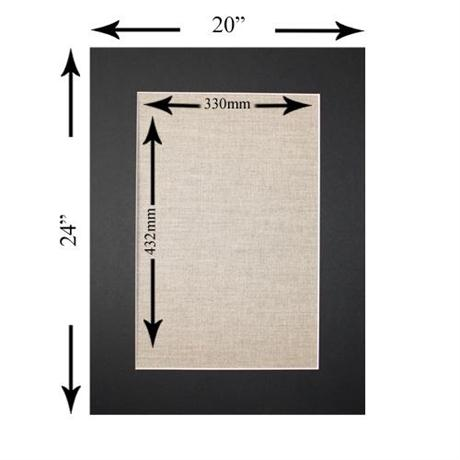 24 x 20 inch Rectangular Mount Image 1
