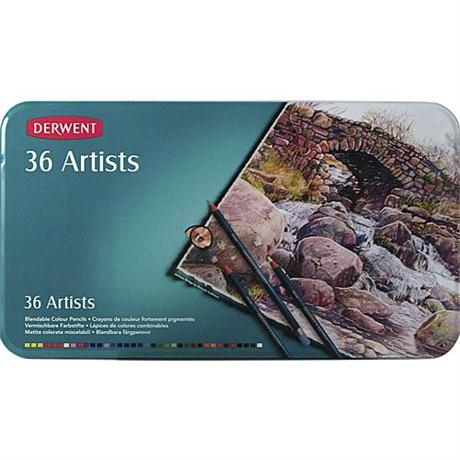 Derwent Artists' Pencils Tin of 36 Image 1