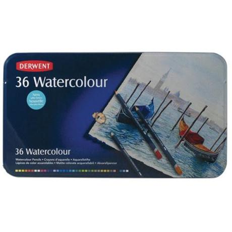 Derwent Watercolour Pencils Tin of 36 Image 1