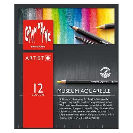 Caran d'Ache Museum Aquarelle Pencils - 12 Assorted Set Image 1