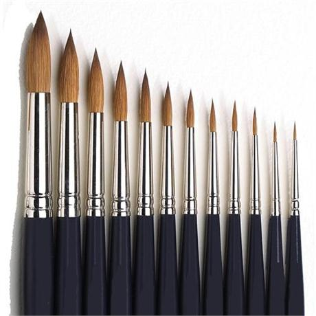 Winsor & Newton Artists' Water Colour Sable Brush - Round Image 1