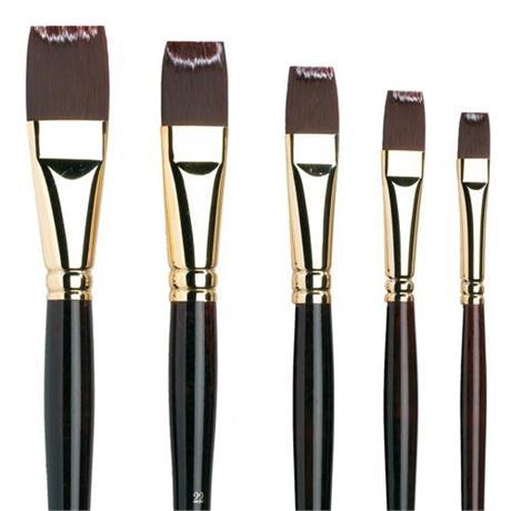 Galeria Long Handled Brushes - Short Flat Image 1