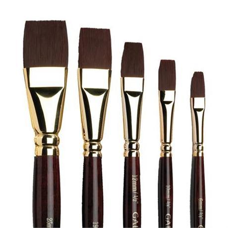 Galeria Short Handled Brushes - One-Stroke Image 1