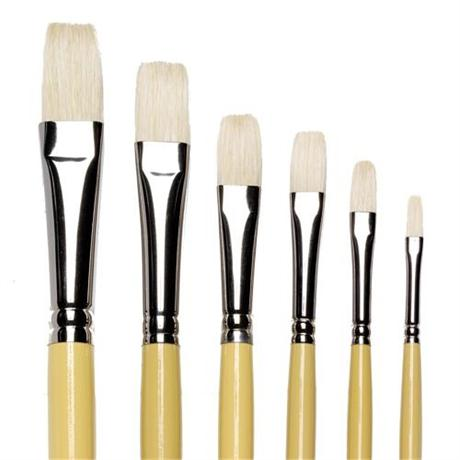 Winsor & Newton Artists' Hog Brush Long Flat Image 1