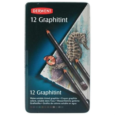 Derwent Graphitint Pencils Tin of 12 Image 1
