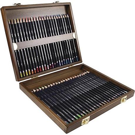 Derwent Studio Pencils Wooden Box of 48 Image 1