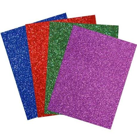 A4 Glitter Card - Single Sheets 200gsm Image 1